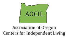 At top is a green image in the shape of Oregon with the acronym AOCIL on it. Below in black is the text