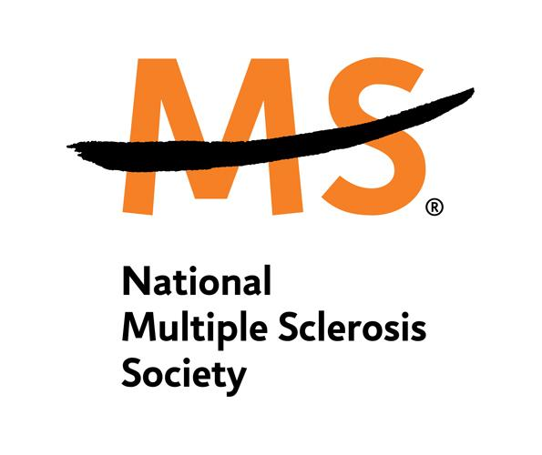 The Letters MS in orange with a black mark through it in the middle